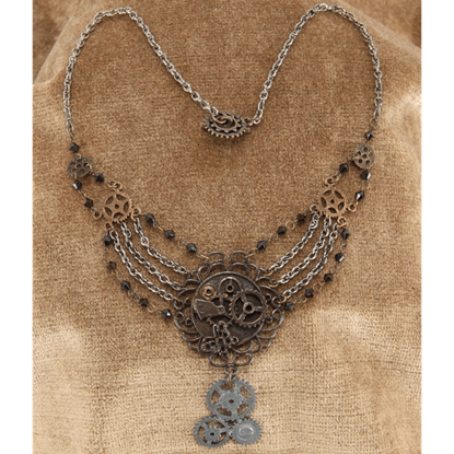 Steampunk Chains & Gears Necklace