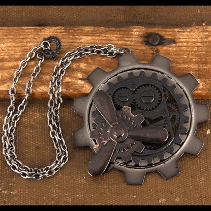 Large Gear & Propeller Steampunk Necklace