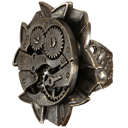 Antique Clockwork Steampunk Ring