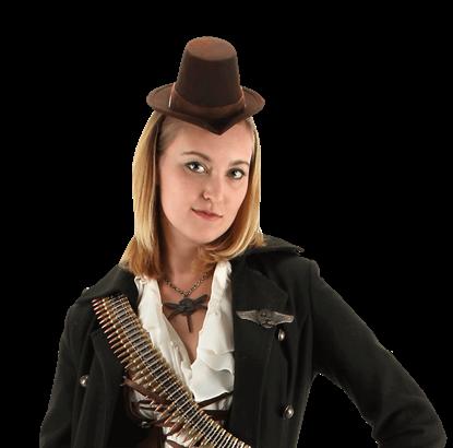 Little Victorian Brown Top Hat