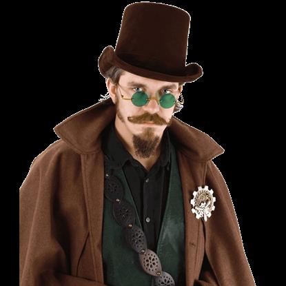 Dark Brown Coachman Top Hat