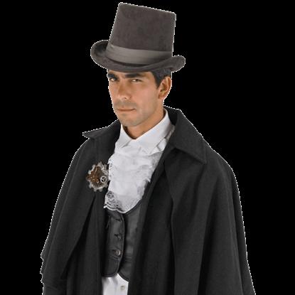Grey Coachman Top Hat