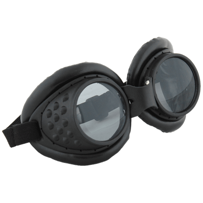 Black Radioactive Aviator Goggles