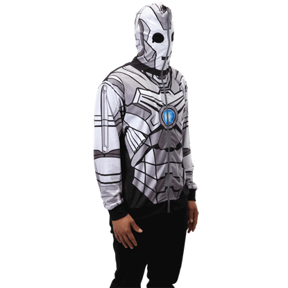 Doctor Who Cyberman Full Zip Hoodie