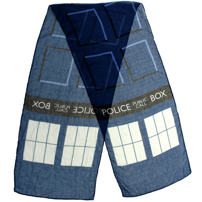 Doctor Who Lightweight TARDIS Scarf