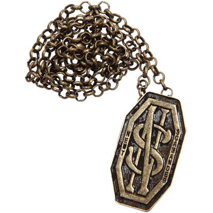 Newt Scamander Monogram Necklace Pin