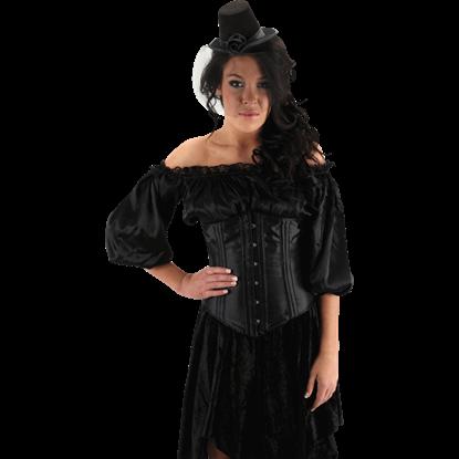 Little Black Victorian Top Hat