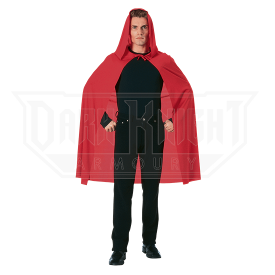 45 Inch Red Hooded Costume Cape
