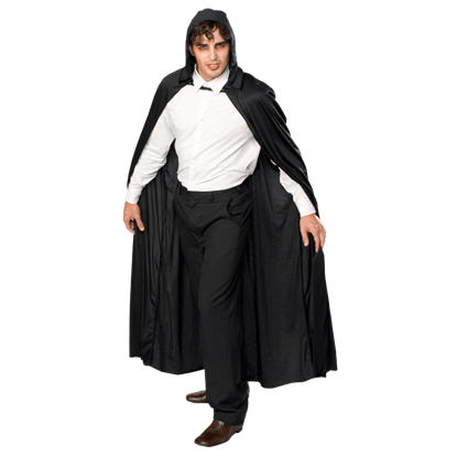 Long Hooded Polyester Costume Cape