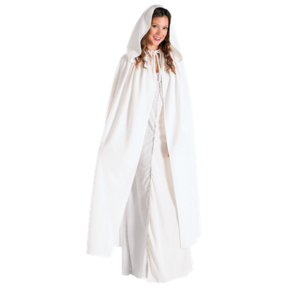 Adult LOTR White Arwen Costume Cloak