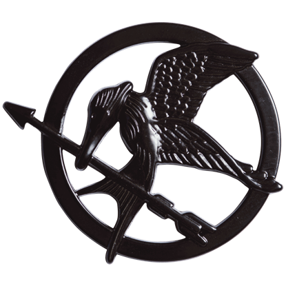 Katniss Black Mockingjay Pin