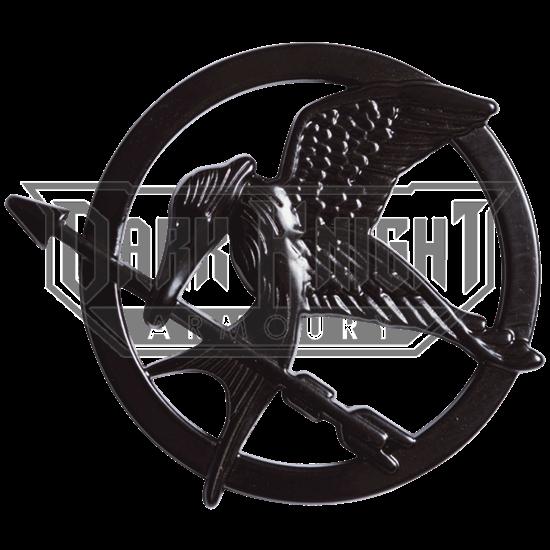 Katniss Black Mockingjay Pin