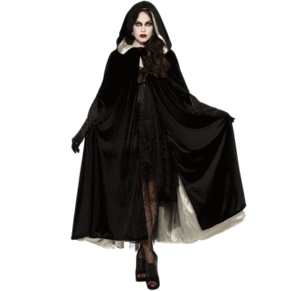 Reversible Velvet Costume Cape