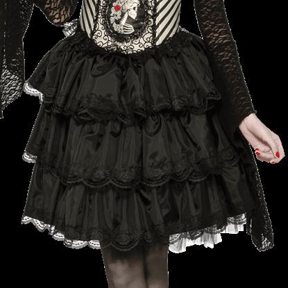 Gothic Black Ruffle Skirt