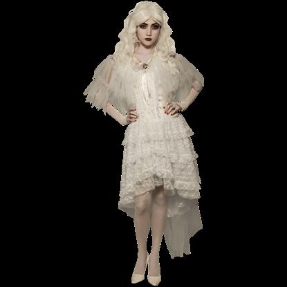 White Goth Capelet