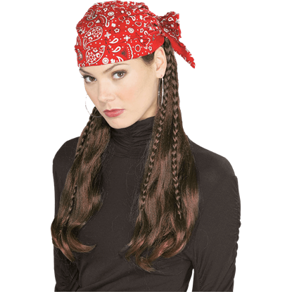 Ladies Fancy Pirate Wig with Wrap