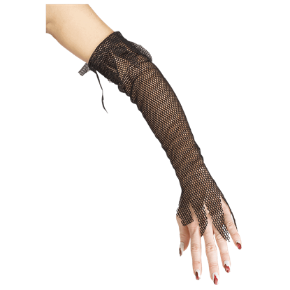 Black Fishnet Glovelets