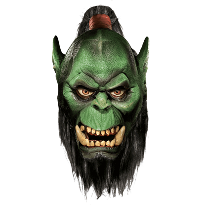 Orc Deluxe Latex Mask with Beard from World of Warcraft