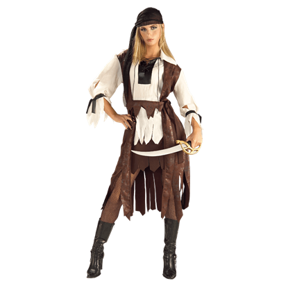 Womens Caribbean Pirate Babe Costume