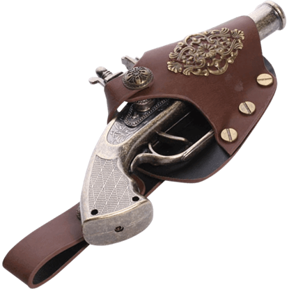 Steampunk Engraved Gun and Holster