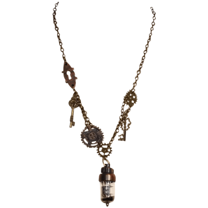 Steampunk Vacuum Tube Necklace