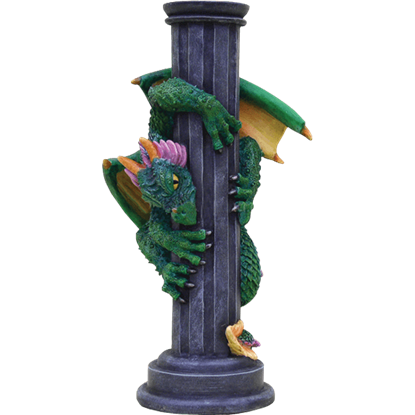 Dragon on Pillar Candle Holder