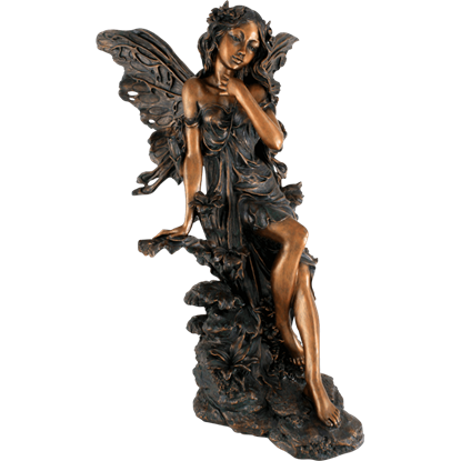 Bronze Garden Fairy Statue