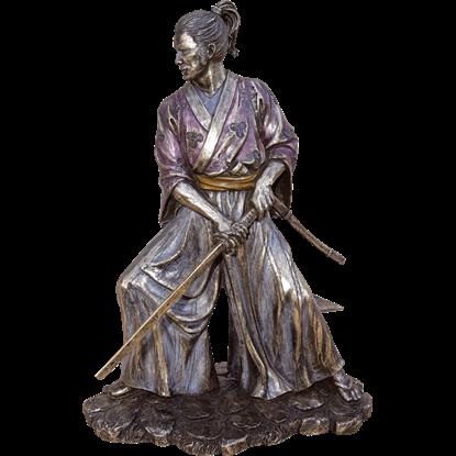 Downstroke Samurai Statue
