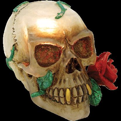 Shiny Vampire Skull Lamp