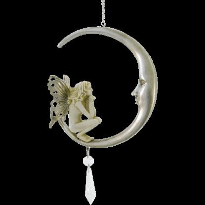 Crescent Moon Fairy Ornament
