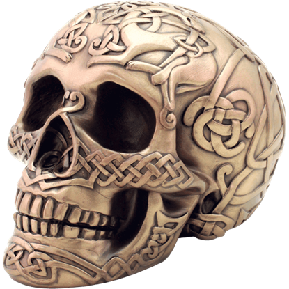 Bronze Celtic Skull