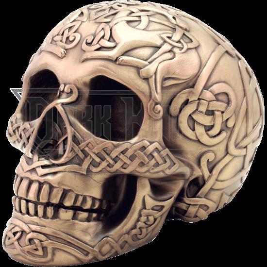 Bronze Celtic Skull
