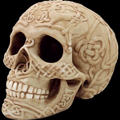 Celtic Knotwork Skull Statue
