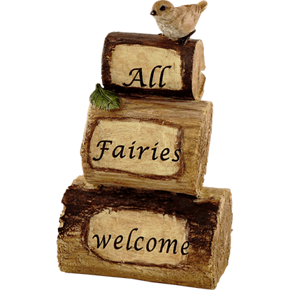 All Fairies Welcome Fairy Garden Cairn