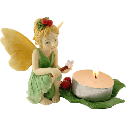 Holly Fairy Tea Light Holder