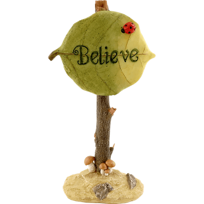 Believe Fairy Garden Sign