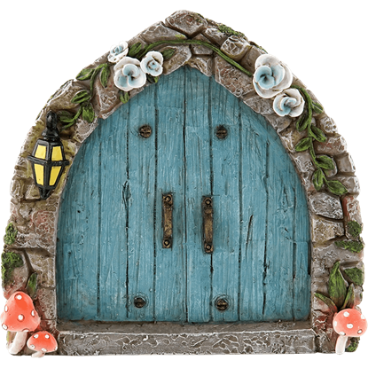 Blue Cobblestone Fairy Door