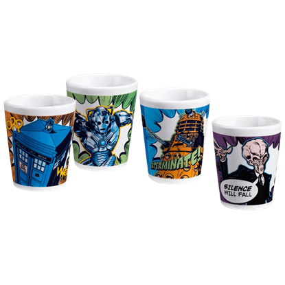 Doctor Who 4 Piece Shot Glass Set