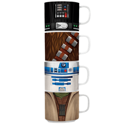 Star Wars 4 Piece Stacking Mug Set