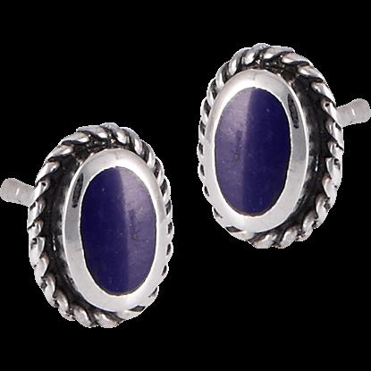 Lapis Sterling Silver Stud Earrings
