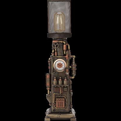 Steampunk Clock Lamp