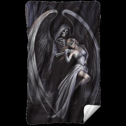 Anne Stokes Dance with Death Fleece Blanket