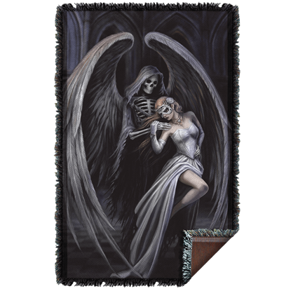 Anne Stokes Dance with Death Woven Blanket