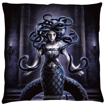 Small Anne Stokes Serpents Spell Pillow