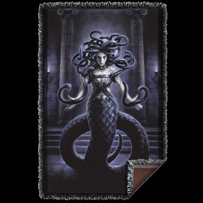Anne Stokes Serpents Spell Woven Blanket