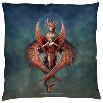 Large Anne Stokes Copperwing Pillow