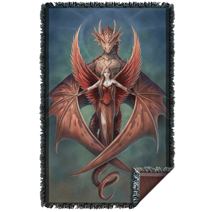 Anne Stokes Copperwing Woven Blanket