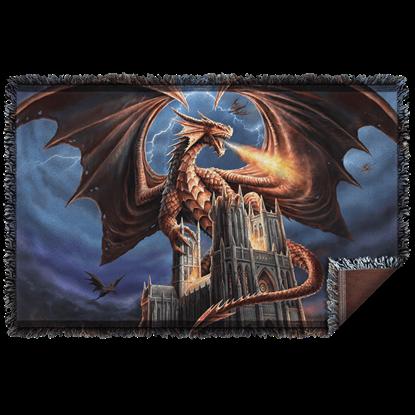 Anne Stokes Dragons Fury Woven Blanket