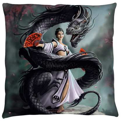 Small Anne Stokes Dragon Dancer Pillow