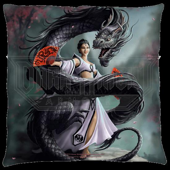 Small Anne Stokes Dragon Dancer Pillow